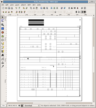 Inkscape used to draw a template for a claim form