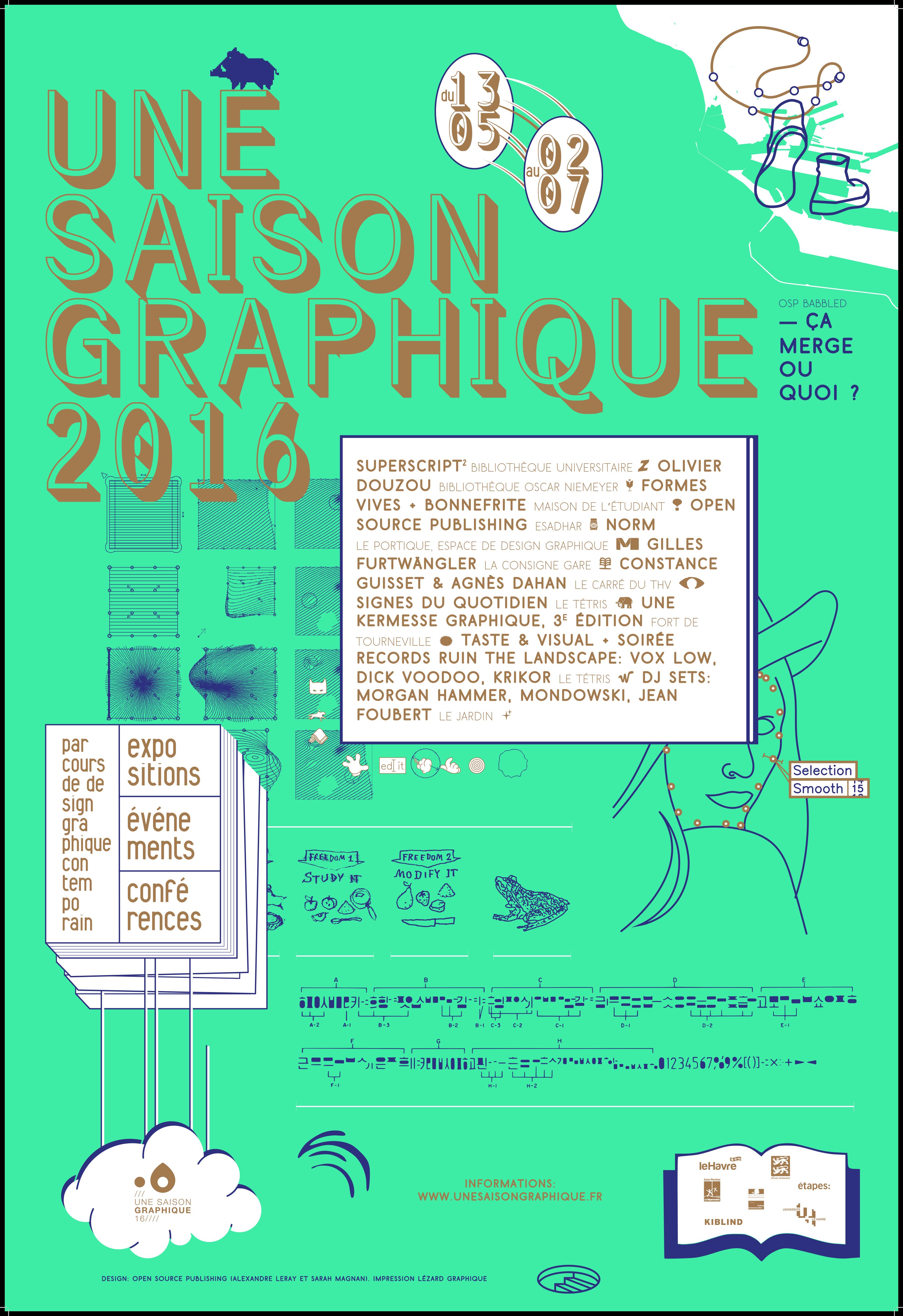 Poster Une Saison Graphique 2016